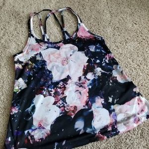 Old Navy Floral Strappy Workout Tank Top